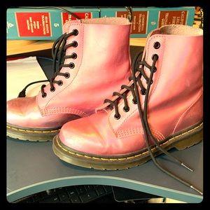 Dr. Martens Pink Hologram Boots